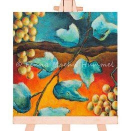 Mini schilderij Bijbels Kado, druiven en wijnrank Atelier for Hope Doetinchem kunst kado artikel