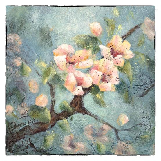 Kaart van schilderij Bloesem Wenskaarten Atelier for Hope Doetinchem