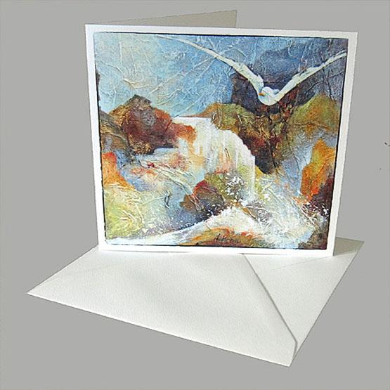 Kunstkaart bijbelse kaart Bron van Levend water, Heilige Geest, waterval Atelier for Hope Doetinchem