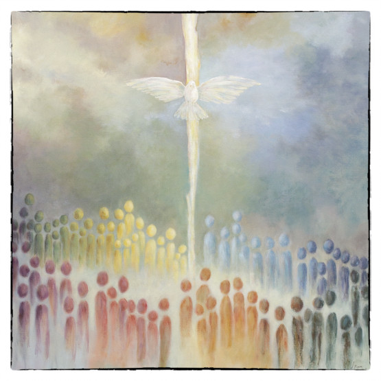 Bijbelse Kaart De Hemel geopend - Pinksteren - Atelier for Hope