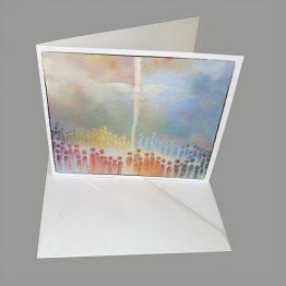 Schilderijkaart De Hemel geopend, Pinksteren, Heilige Geest, Kunstkaarten Atelier for Hope Doetinchem