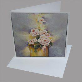 Bijbelse en christelijk geinspireerde thema's. Kaart van schilderij Morning prayer - reukwerk van rozen.