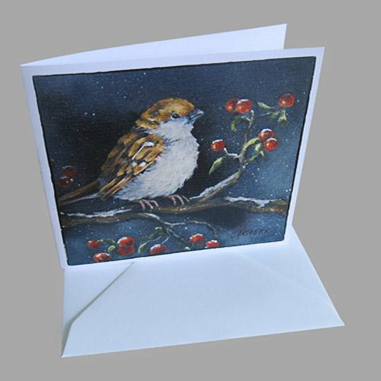 Kunstkaart Kerstkaarten Musje Besjes Atelier for Hope Kaarten van schilderijen