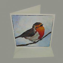 kaart - kunstkaart van schilderij Roodborstje. Atelier for Hope Originele kaarten