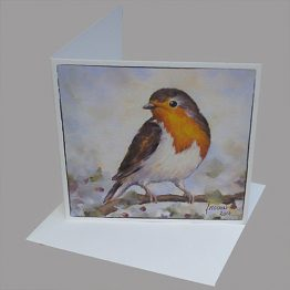 kerstkaart - wenskaart Roodborstje winter. Atelier for Hope kaarten vogels
