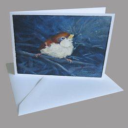 kaart Musje - Mussenkaarten - kunstkaart - kerstkaart Atelier for Hope Doetinchem
