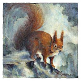 Kaart Eekhoorn - Kunstkaart - Kerstkaart Atelier for Hope Doetinchem