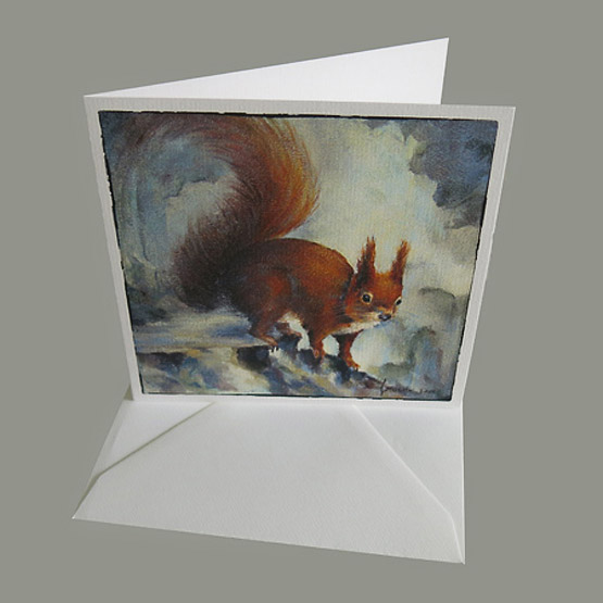 kaart eekhoorntje - kerstkaart - kunstkaart - Atelier for Hope Doetinchem
