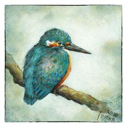 Kunstkaart kaart schilderij Ijsvogeltje Atelier for Hope Doetinchem