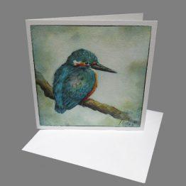 kaart ijsvogel kunstkaart wenskaart Atelier for Hope Doetinchem kaarten van schilderijen