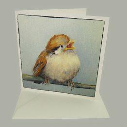 Kaart van schilderij Jong Musjes - kunstkaarten Atelier for Hope Doetinchem