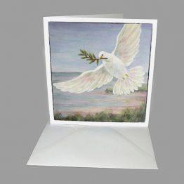 Kunstkaart Kerstkaart Vredesduif Atelier for Hope