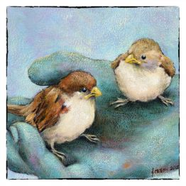 Kunstkaart kaart Musjes op Hand Atelier for Hope Doetinchem