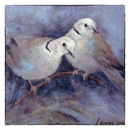 Kunstkaart schilderij Tortelduifjes. Atelier for Hope Doetinchem