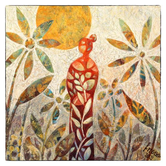 Kunstkaart verwondering, vrolijke kleurrijke kaart luxe gevouwen kaart Atelier for Hope Bemoediging