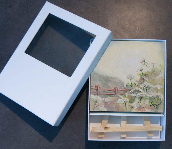 Mini Schilderij Fluitekruid inclusief luxe verpakking Atelier for Hope Doetinchem