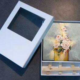 Miniatuur schilderij bijbels Morning Prayer Reukwerk van roosjes Lofzang Atelier for Hope kunst kado.