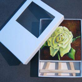 Mini Schilderij Gele Roos Atelier for Hope Kunstkado artikelen