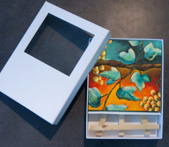Bijbels mini schilderij Habakuk Beker zal overvloeien Atelier for Hope Doetinchem