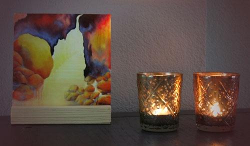 Giclee schilderij Eeuwig licht, bijbelse kado artikelen, Christelijke geschenken Atelier for Hope Doetinchem