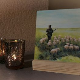 Schilderij de Herder, Psalm 23 Atelier for Hope Doetinchem Christelijke kunst kado's Belijdenis kado
