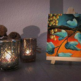 Bijbels Schilderij miniatuur Druiven Wijnrank Habakuk Atelier for Hope Kado