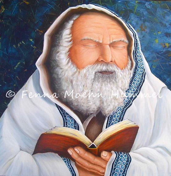 Bijbels schilderij de Rabbi, Atelier for Hope Christelijke Religieuze kunst