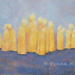 Bijbels schilderij Uitzien Verlangen en Hoop Atelier for Hope Betekenisvolle kunst
