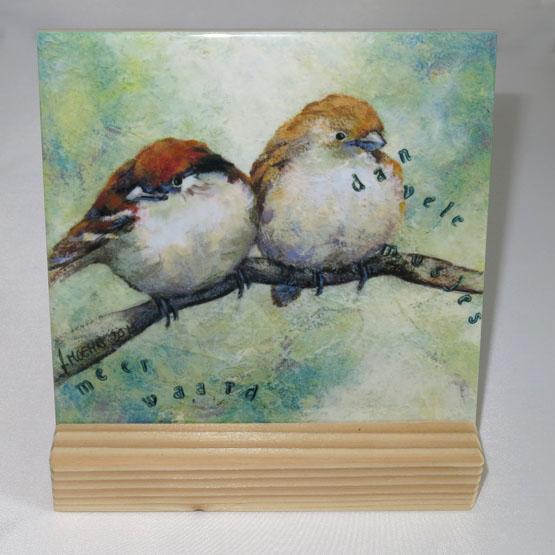 Keramische Tegel Schilderij Meer waard dan de Musjes Atelier for Hope Doetinchem